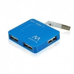 EWENT  HUB.  4  X  USB.  CONECTOR  USB.  AZUL