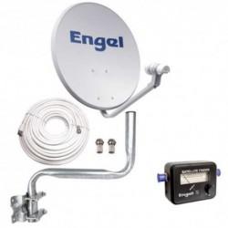 Engel  Kit  Satelite  Antena  80CM+LNB+Localizador+Kit  Instalación  (sin  receptor)
