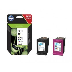 HP  301  2-pack  Black/Tri-color  Original  Ink  Cartridges
