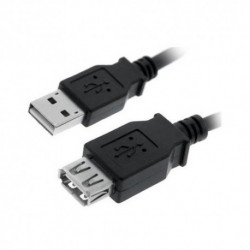 NANOCABLE  CABLE  USB  2.0,  TIPO  A/M-A/H,  NEGRO,  1.8  M