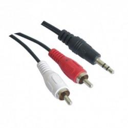 NANOCABLE  CABLE  AUDIO  ESTEREO,  3.5/M-2xRCA/M,  1.5  M