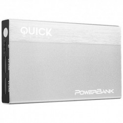 QUICKMEDIA  Powerbank  10000Mah  Plata