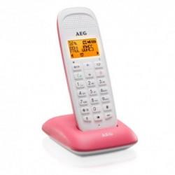 TELEFONO  AEG  VOXTEL  D-81.  BLANCO-ROSA